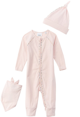 Burberry 3Pc Vintage Check Detail Baby Gift Set