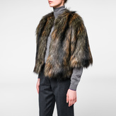 Paul Smith Women's Mixed-Colour Faux Fur Cropped Jacket