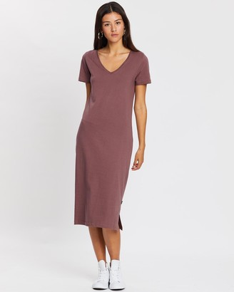 Silent Theory Notch Midi Dress