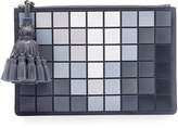 Anya Hindmarch Georgiana Giant Pixels Clutch Bag, Charcoal