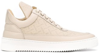 Filling Pieces Logo-Print Mid-Top Sneakers