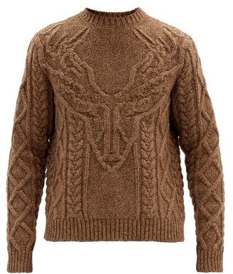 DSQUARED2 Antler Cable-knit Wool Sweater - Brown