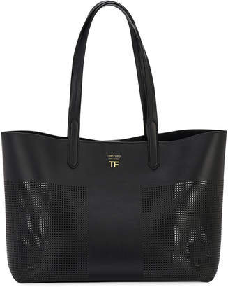 Tom Ford Small Graphic Perforated T Tote Bag