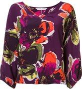 Trina Turk floral pattern V-neck blouse