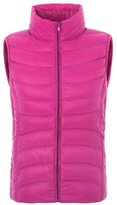 Tailloday Women's Winter Lightweight Puffy Down Vest Outwear Jacket L(Tag XL)