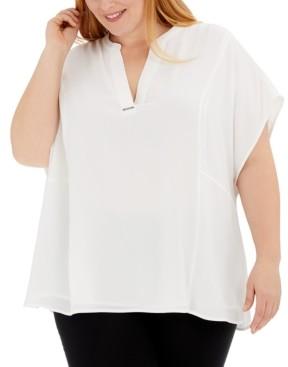 Calvin Klein Size V-Neck Top
