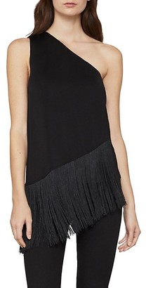 Asymmetric Fringe Top