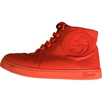 Gucci Red Leather Boots