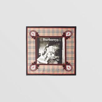 Burberry Archive Campaign Print Silk Square Scarf