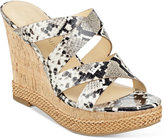 Ivanka Trump Habbie Strappy Wedge Platform Sandals