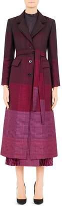 Mary Katrantzou Beatrice Plaid Virgin Wool-Blend Coat