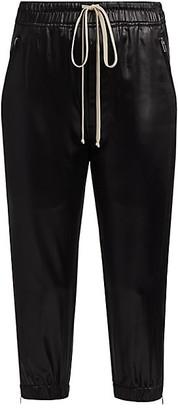 Rick Owens Latex Cropped Track Pants