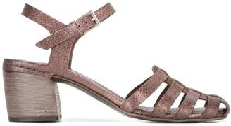 Del Carlo Mid Block Heel Sandals