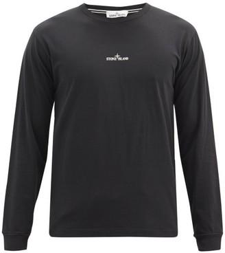 Stone Island Logo-print Cotton-jersey T-shirt - Black
