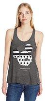 Disney Women's Stripe a Dot Mickey Jrs Tank