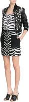 Ungaro Zebra Print Mini Skirt