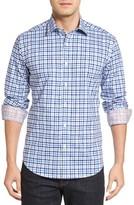 Bugatchi Men's Shaped Fit Plaid Sport Shirt