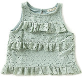 Copper Key Little Girls 4-6X Lace Ruffled Tank