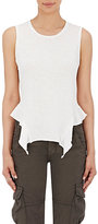 NSF Women's Ruffled-Hem Lea Tank-WHITE