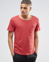 Selected Flase O-Neck T-Shirt in Red
