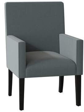 Sloane SoHo Upholstered Dining Chair Whitney Body Fabric: Angela Cloud, Piping Fabric: Angela Cloud, Leg Color: Black Matte