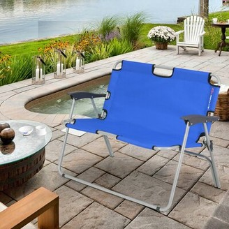 Costway 3 Layer Floating Oasis Park Bench Color: Blue