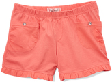 Pink Angel Coral Patch Pocket Rhinestone Shorts - Girls