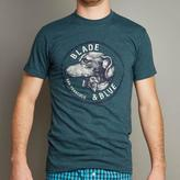 Blade + Blue Teal Blue Dachshund with Bow Tie Crest Tee