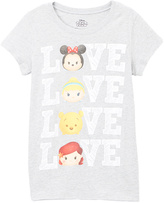 Jerry Leigh Heather Gray Tsum Tsum 'Love' Stack Tee - Girls