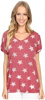 Allen Allen Allover Star Short Sleeve Tee