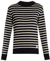 Orcival Crew-neck striped wool sweater