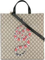 Gucci Snake print GG Supreme tote - men - Leather/Polyurethane - One Size
