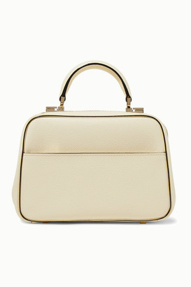 Valextra Serie S Medium Textured-leather Tote - Off-white