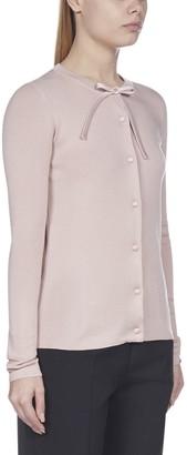 Prada Bow Button-Up Cardigan