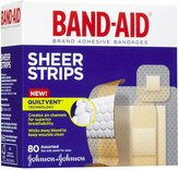 Safety First Band-Aid Comfort-Flex Adhesive Bandages-Sheer-80ct, Assorted Sizes