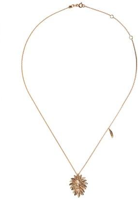 Kismet by Milka 14kt Rose Gold Small Lion Diamond Pendant Necklace