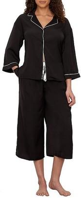 Donna Karan April Blooms Knit Capri Pajama Set