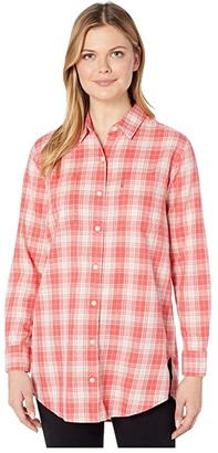 Levi's(r) Womens Leni Tunic (Anika Plaid Cayenne) Women's Clothing