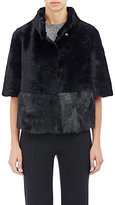 Barneys New York Women's Crop Shearling Jacket