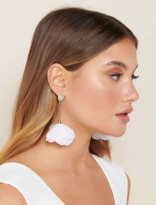 Forever New Shelby Statement Floral Drop Earrings - White - 00