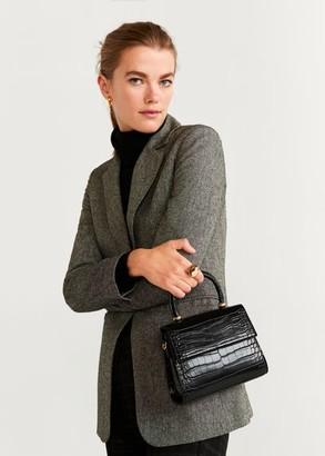 MANGO Croc-effect bag black - One size - Women