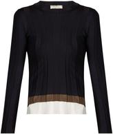Nina Ricci Contrast panel stretch-jersey sweater