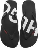 Hugo Boss Shoes Wave/_Thng/_Digital Flip-Flops Men Black Brand New