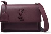 Saint Laurent Sunset Medium Textured-leather Shoulder Bag - Burgundy