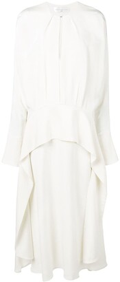Victoria Victoria Beckham Long Sleeve Drape Dress
