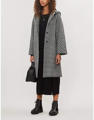Maje Plaid wool-blend coat