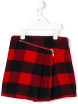 Junior Gaultier checked wrap skirt