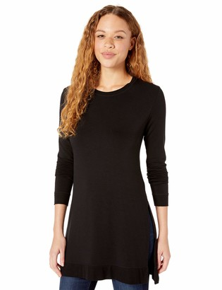 Majestic Filatures Women's French Terry Long Sleeve Crew Neck Tunic