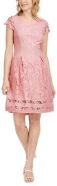 Jessica Howard Cap-Sleeve Lace Dress