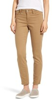 NYDJ Petite Women's Alina Frayed Stretch Twill Ankle Pants